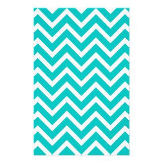 white mint white zig zag pattern design stationery
