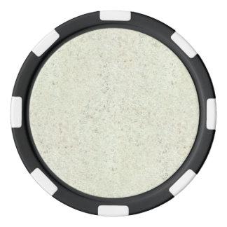 White Mist Cork Wood Grain Look Set Of Poker Chips