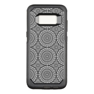 White Modern Diamonds Circles Pattern OtterBox Commuter Samsung Galaxy S8 Case