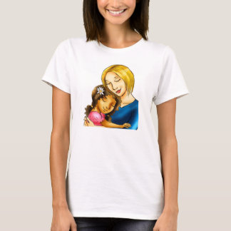 """""""White Mom hugging mixed race daughter"""" T-Shirt"""