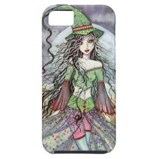 White Moon Wiccan Halloween Witch Fantasy Art iPhone 5 Cover