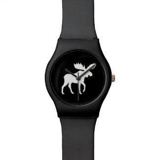 White Moose Silhouette Watches