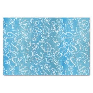 White Morning Glory Flowers Tissue Paper