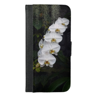 White Moth Orchids Design iPhone Folder iPhone 6/6s Plus Wallet Case