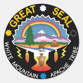 White Mountain Apache Classic Round Sticker