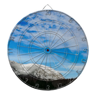 White Mountain Blue Sky Landscape Dartboard