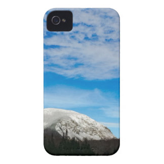 White Mountain Blue Sky Landscape iPhone 4 Cover