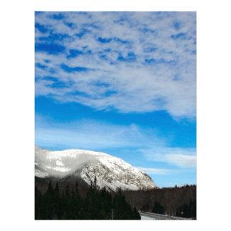 White Mountain Blue Sky Landscape Letterhead
