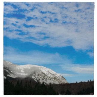 White Mountain Blue Sky Landscape Napkin