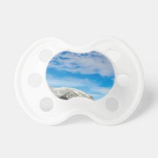 White Mountain Blue Sky Landscape Pacifier