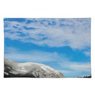White Mountain Blue Sky Landscape Placemat