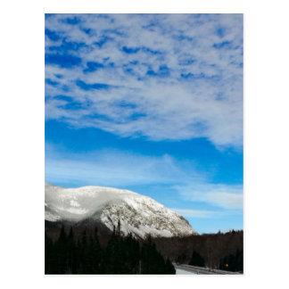 White Mountain Blue Sky Landscape Postcard