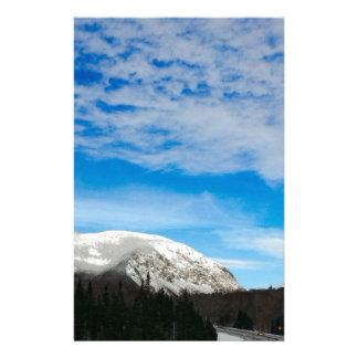 White Mountain Blue Sky Landscape Stationery