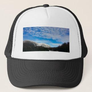 White Mountain Blue Sky Landscape Trucker Hat