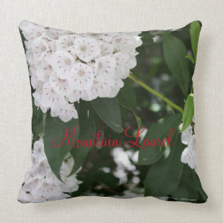White Mountain Laurel Flowers Throw Pillow
