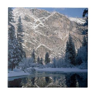 White Mountain Reflections Ceramic Tile