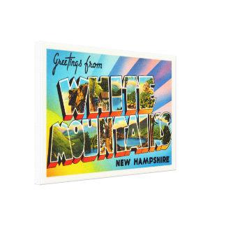 White Mountains New Hampshire NH Travel Souvenir Canvas Print