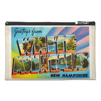 White Mountains New Hampshire NH Travel Souvenir Travel Accessory Bags