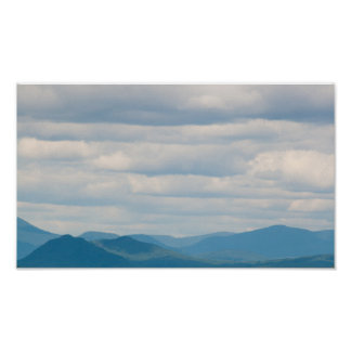 White Mountains under a cloudy sky, New Hampshire Poster