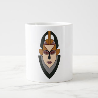 White mug with a mask Design