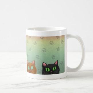 White Mug With Cats