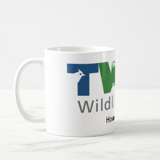 White mug with logo