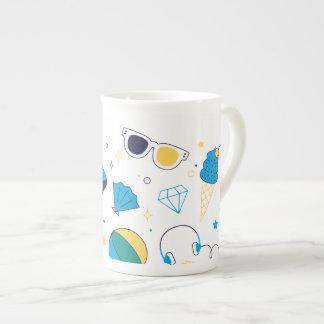 White mug with Subject Beach Summer