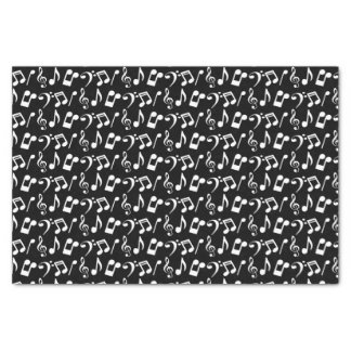 White Music Notes Tissue Paper