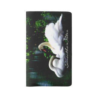 White Mute Swans Custom Large Moleskine Notebook