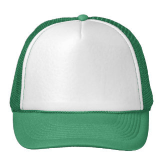 White n Green 12 other color choices template fun Trucker Hat