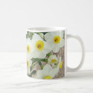 White Narcissus Flowers Mug
