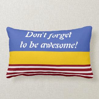 White Narrow Stripes + your backgr. color & ideas Lumbar Pillow