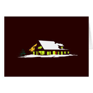 White Nature House Christmas Card