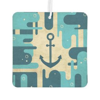 White Nautical Anchor Design with Rope Car Air Freshener