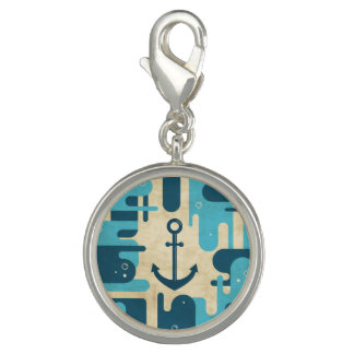 White Nautical Anchor Design with Rope Charm