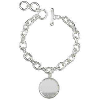 White Nautical Anchor Design with Rope Charm Bracelet