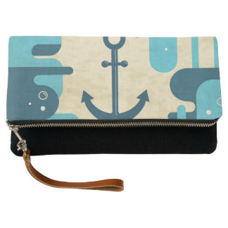 White Nautical Anchor Design with Rope Clutch