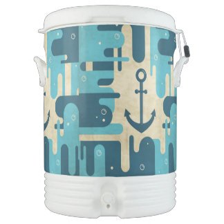 White Nautical Anchor Design with Rope Drinks Cooler