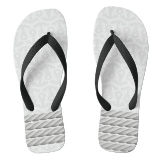 White Nautical Anchor Design with Rope Flip Flops