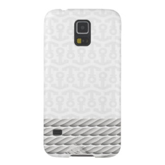 White Nautical Anchor Design with Rope Galaxy S5 Cases