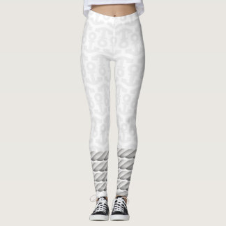 White Nautical Anchor Design with Rope Leggings
