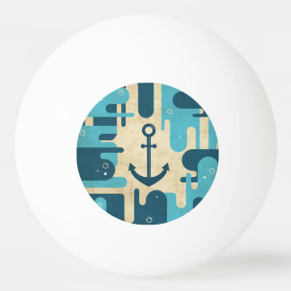 White Nautical Anchor Design with Rope Ping Pong Ball