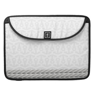 White Nautical Anchor Design with Rope Sleeve For MacBook Pro