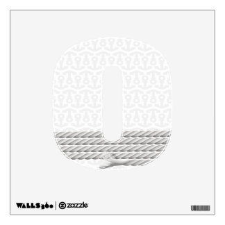 White Nautical Anchor Design with Rope Wall Sticker