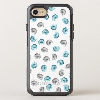 White Nautilus Argonaut Pattern OtterBox Symmetry iPhone 8/7 Case