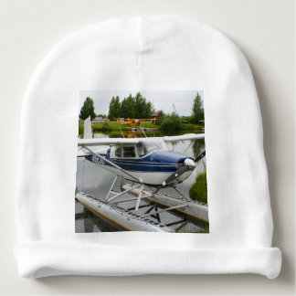 White & navy float plane, Alaska Baby Beanie