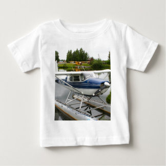 White & navy float plane, Alaska Baby T-Shirt