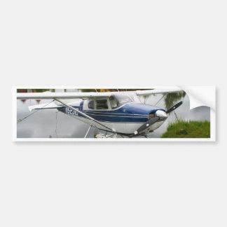 White & navy float plane, Alaska Bumper Sticker