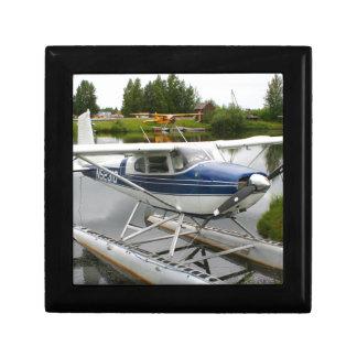 White & navy float plane, Alaska Gift Box