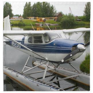 White & navy float plane, Alaska Napkin
